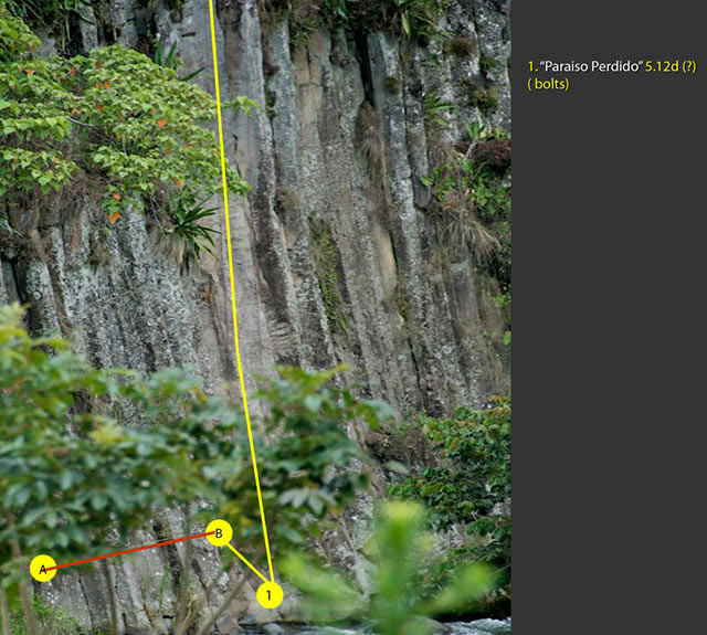 Rock Climbing Routes at Paradiso Sector in Boquete, Panama